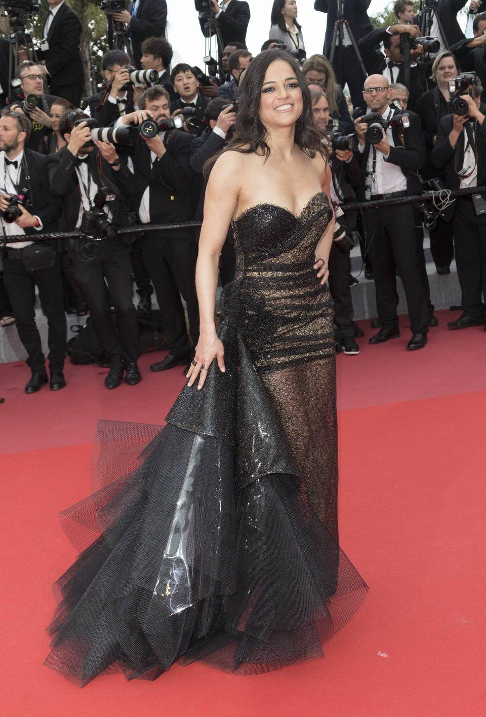 Michelle Rodriguez asiste a la premiere de 'Han Solo: Una historia de Star Wars' durante el Festival de Cannes