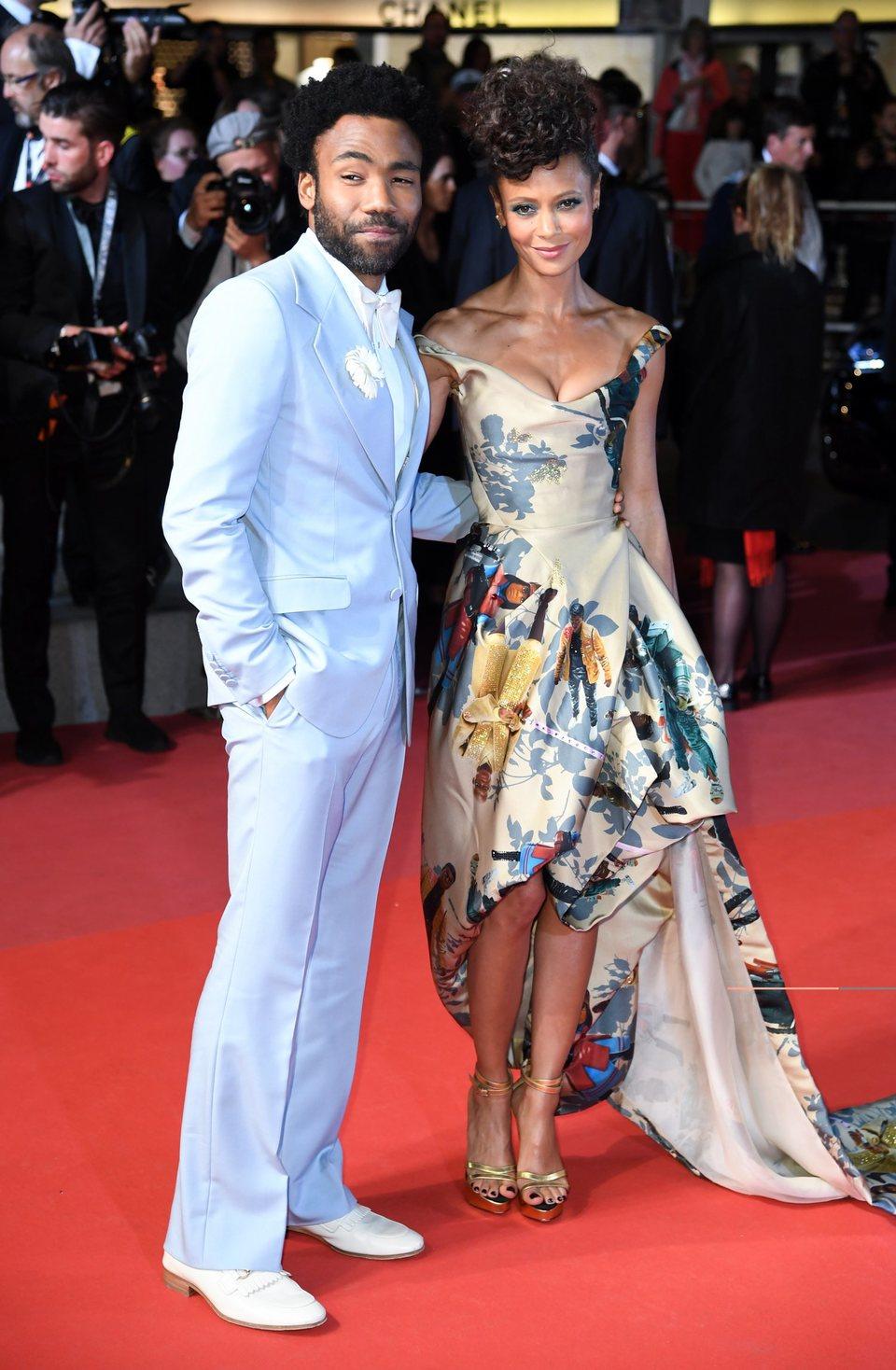 Donald Glover y Thandie Newton asisten a la premiere de 'Han Solo: Una historia de Star Wars' durante el Festival de Cannes