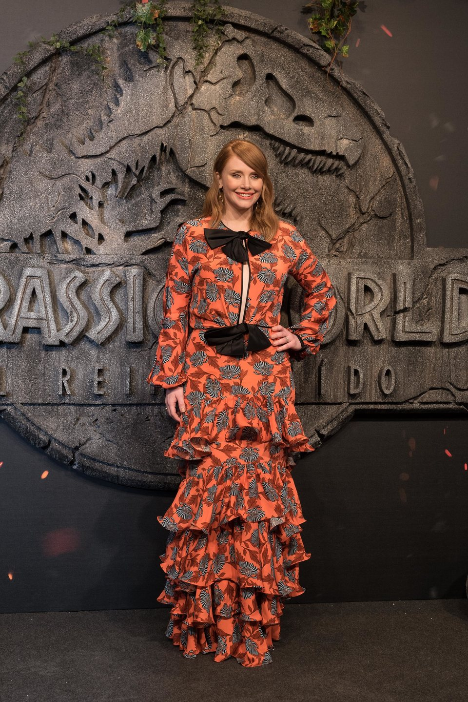 Bryce Dallas-Howard en la premiere mundial de 'Jurassic World: El reino caído' en Madrid