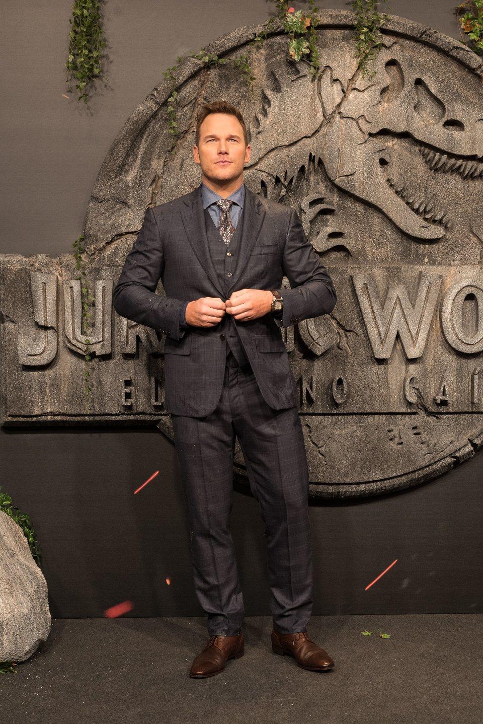 Chris Pratt en la premiere mundial de 'Jurassic World: El reino caído' en Madrid