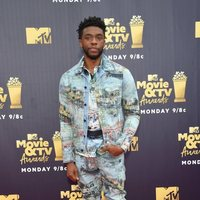 Chadwick Boseman en la alfombra roja de los MTV Movie & TV Awards 2018