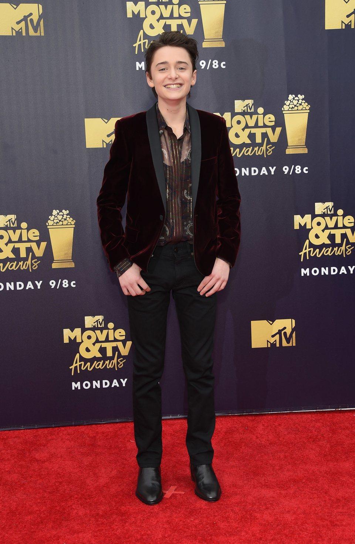 Noah Schnapp en la alfombra roja de los MTV Movie & TV Awards 2018