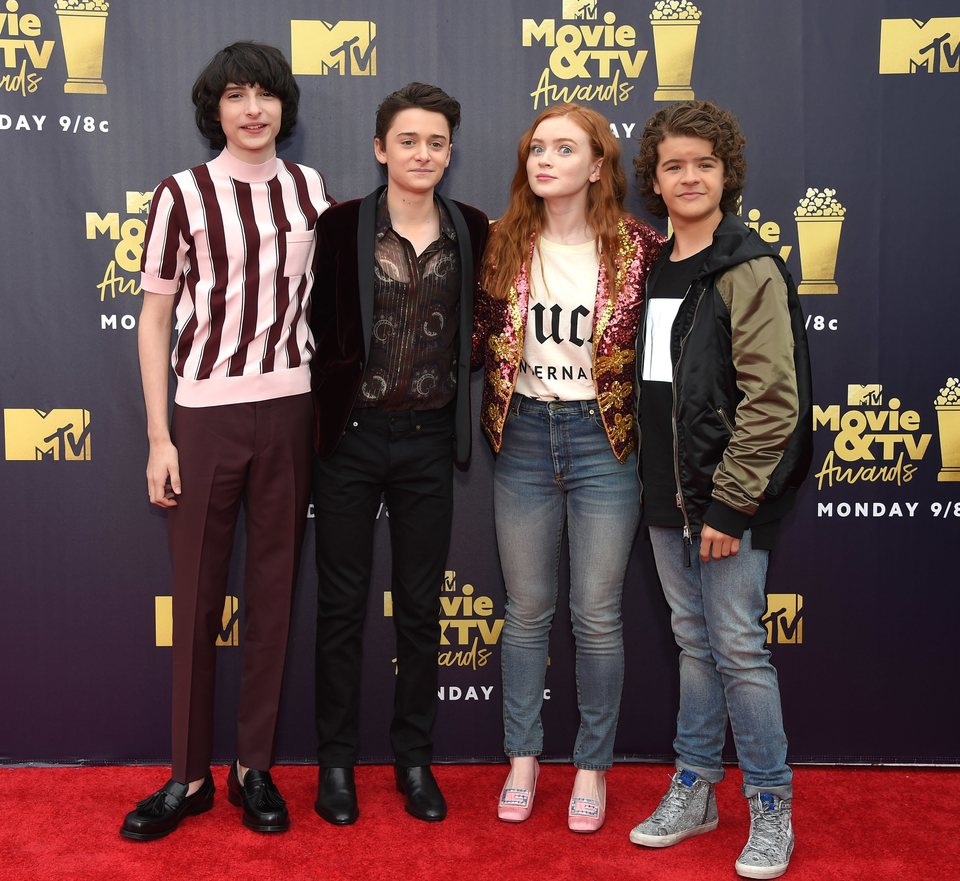 Los actores de 'Stranger Things' en la alfombra roja de los MTV Movie & TV Awards 2018