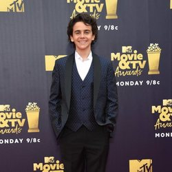 Jack Dylan Grazer en la alfombra roja de los MTV Movie & TV Awards 2018