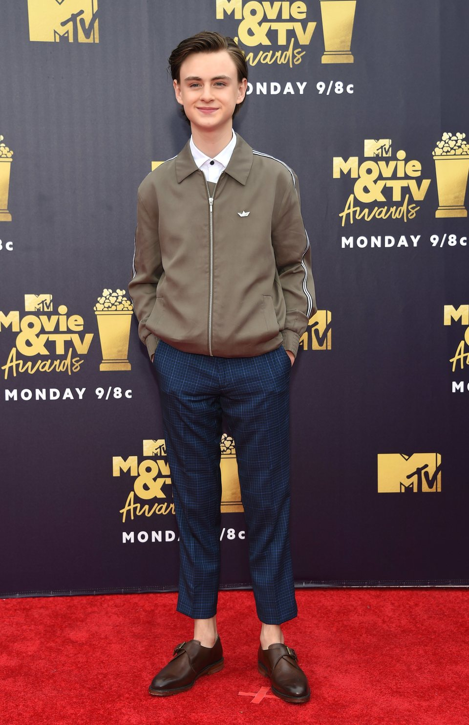 Jaeden Lieberher en la alfombra roja de los MTV Movie & TV Awards 2018