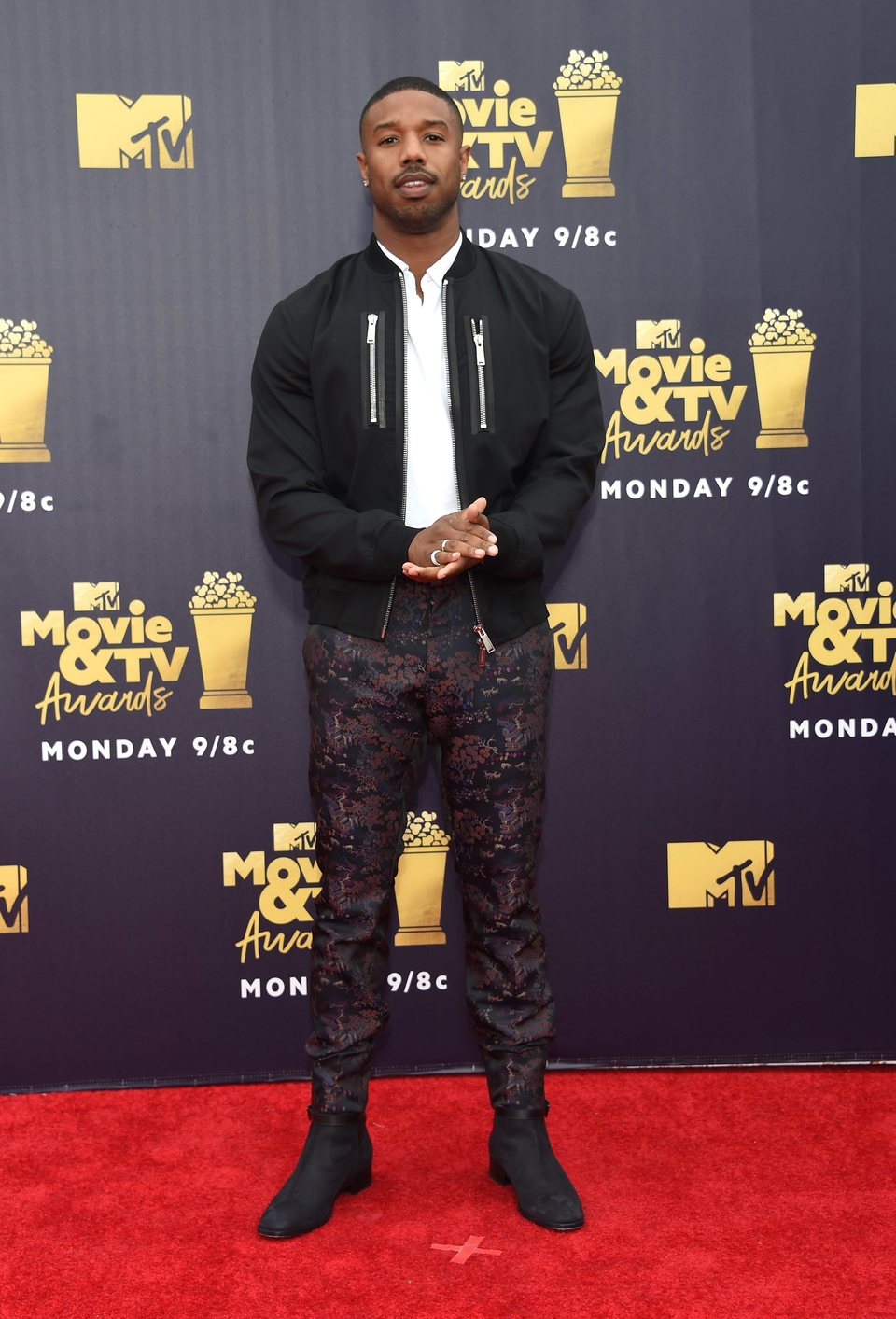 Michael B. Jordan en la alfombra roja de los MTV Movie & TV Awards 2018