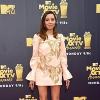 Aubrey Plaza en la alfombra roja de los MTV Movie & TV Awards 2018