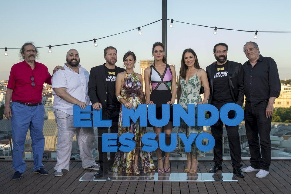Alberto López, Alfonso Sánchez y el equipo de 'El mundo es suyo'
