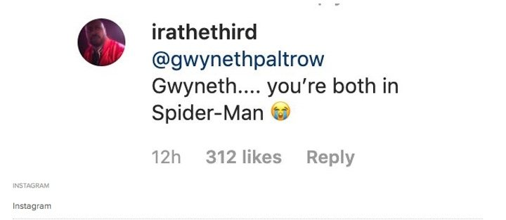Instagram user irathethird quickly pointed out Paltrow's mistake
