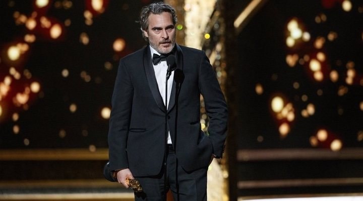 Joaquin Phoenix delivered an emotional speech imploring celebrities to consider the impact of their lifestyles on the environment