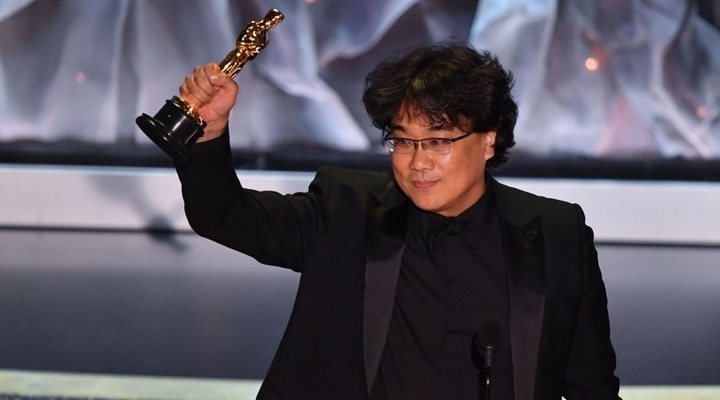 Bong Joon-ho won the Oscar for Best Director and thanked the other nominees for inspiring his love of filmmaking