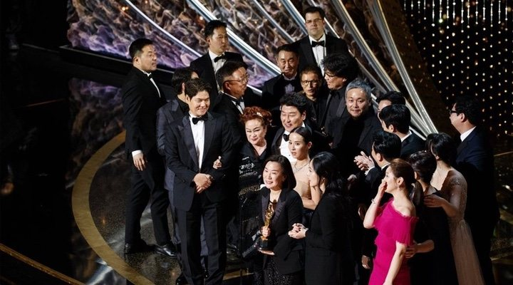 After a triumphant night, 'Parasite' was granted extra time to speak after winning the Oscar for Best Film