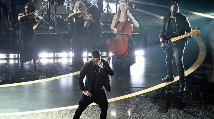 Eminem performs at the Oscars 18 years after winning an award for '8 Mile'