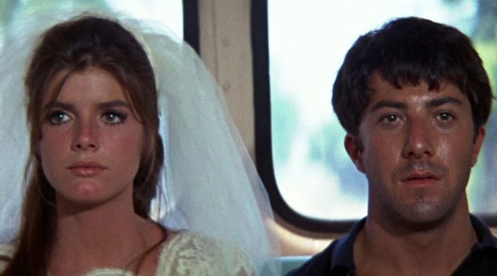 The faces of Ben (Dustin Hoffman) and Elaine (Katharine Ross) at the end of 'The Graduate' say it all