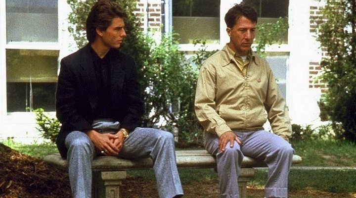 A selfish car dealer and his autistic brother bond in 'Rain Man'