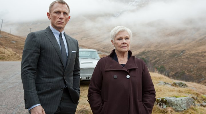 James Bond Daniel Craig and Judi Dench