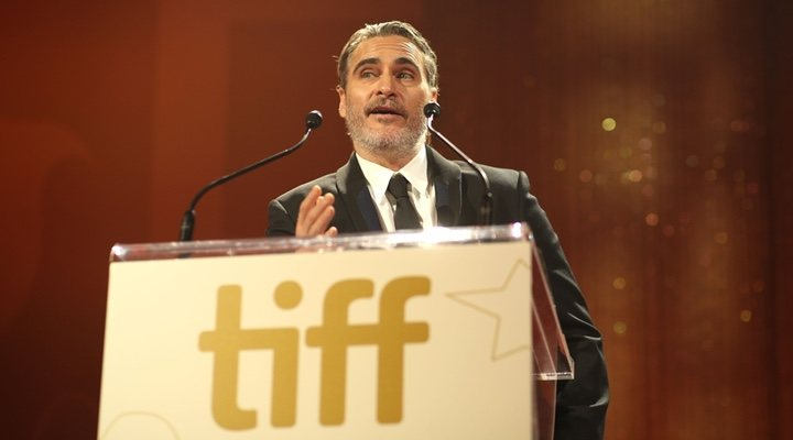 Joaquin Phoenix recalls his brother, River Phoenix, during his speech at the Toronto International Film Festival