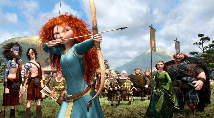 Merida shoots for her own hand in 'Brave' (2012)