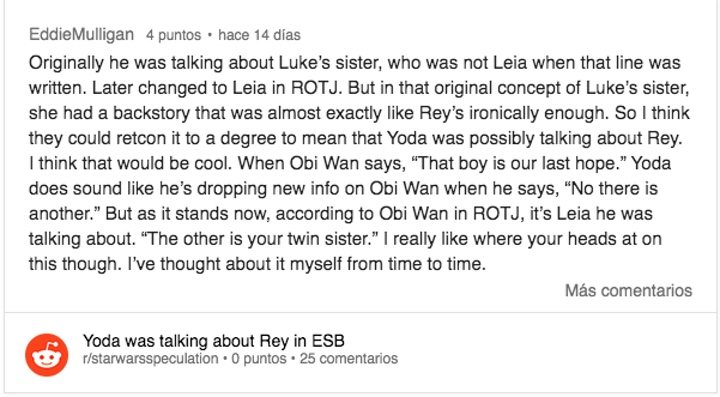 This Reddit user acknowledges that even if the other hope was Leia, the scene could still be reused to work with Rey