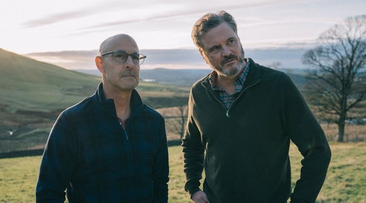 Colin Firth and Stanley Tucci star as a couple taking one last English road trip in 'Supernova'