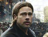 Póster internacional de 'Guerra Mundial Z', Brad Pitt y su familia huyen de una pandemia zombie
