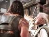 Dwayne Johnson gasta una broma a un miembro del equipo durante el rodaje de 'Hercules: The Thracian Wars'