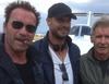 Arnold Schwarzenegger, Patrick Hughes y Harrison Ford comparten una foto  del rodaje de 'Los Mercenarios 3'