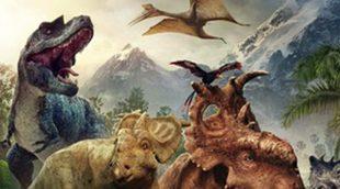 Póster en español de 'Caminando entre Dinosaurios', descrubre estas fascinantes criaturas de la mano de Patch