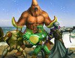 Los personajes de 'Bob Esponja: Un héroe fuera del agua' se convierten en 'Los Vengadores' en unos concept art
