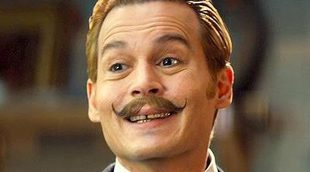 Johnny Depp huye de un dóberman en un clip exclusivo de 'Mortdecai'