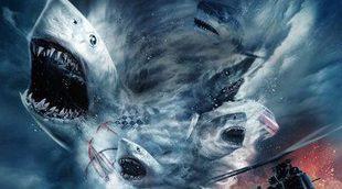 Vuelven los tornados de tiburones en el primer teaser póster de 'Sharknado 4'