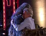 Harrison Ford y Chewbacca se reconcilian en el programa 'Jimmy Kimmel Live'