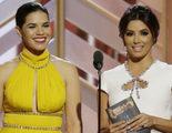 Globos de Oro 2016: America Ferrera y Eva Longoria bromean con que las confundan con otras actrices latinas