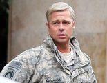 Brad Pitt parece un muñeco en el rodaje de 'War Machine'