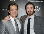 Chris Evans y Sebastian Stan presencian un beso apasionado entre el Capitán América y Bucky