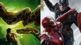 'El libro de la selva' y 'Capitán América: Civil War' conquistan a la taquilla europea en abril y mayo
