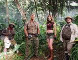 'Jumanji': Kevin Hart comparte una primera imagen del rodaje con Dwayne Johnson, Jack Black y Karen Gillan