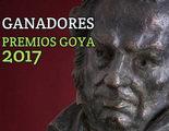 Lista completa de los ganadores de los Premios Goya 2017