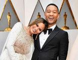 Oscar 2017: Chrissy Teigen se duerme en el hombro de John Legend durante la gala