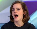 Emma Watson para una entrevista para limpiar la cara de una periodista española