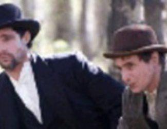 Cartel en castellano de 'El asesinato de Jesse james por el cobarde Robert Ford'