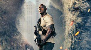 Primer póster de 'Rampage' con Dwayne Johnson