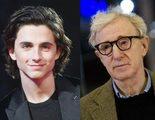 Timothée Chalamet también donará el sueldo de su película con Woody Allen
