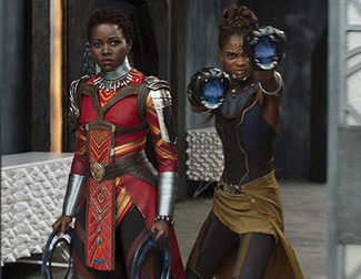 Lupita Nyong'o y Letitia Wright improvisan un rap sobre 'Black Panther'