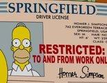 'Los Simpson': Un conductor es arrestado por utilizar un carnet con la cara de Homer Simpson