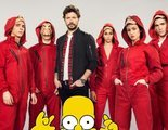 Hoy en Twitter: Los personajes de 'La casa de papel' se convierten en vecinos de 'Los Simpson'
