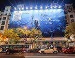 Esta lona publicitaria de 'Aquaman' está hecha con plástico reciclado