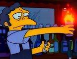 Una bebida parecida al 'Flameado de Moe' de 'Los Simpson' intoxica a dos jóvenes