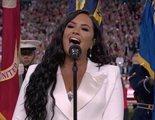 Demi Lovato cumple su sueño de cantar el himno en la Super Bowl 10 años después de prometerlo