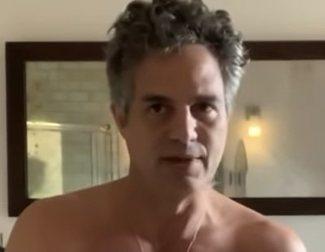 Mark Ruffalo y más famosos se desnudan para pedir el voto